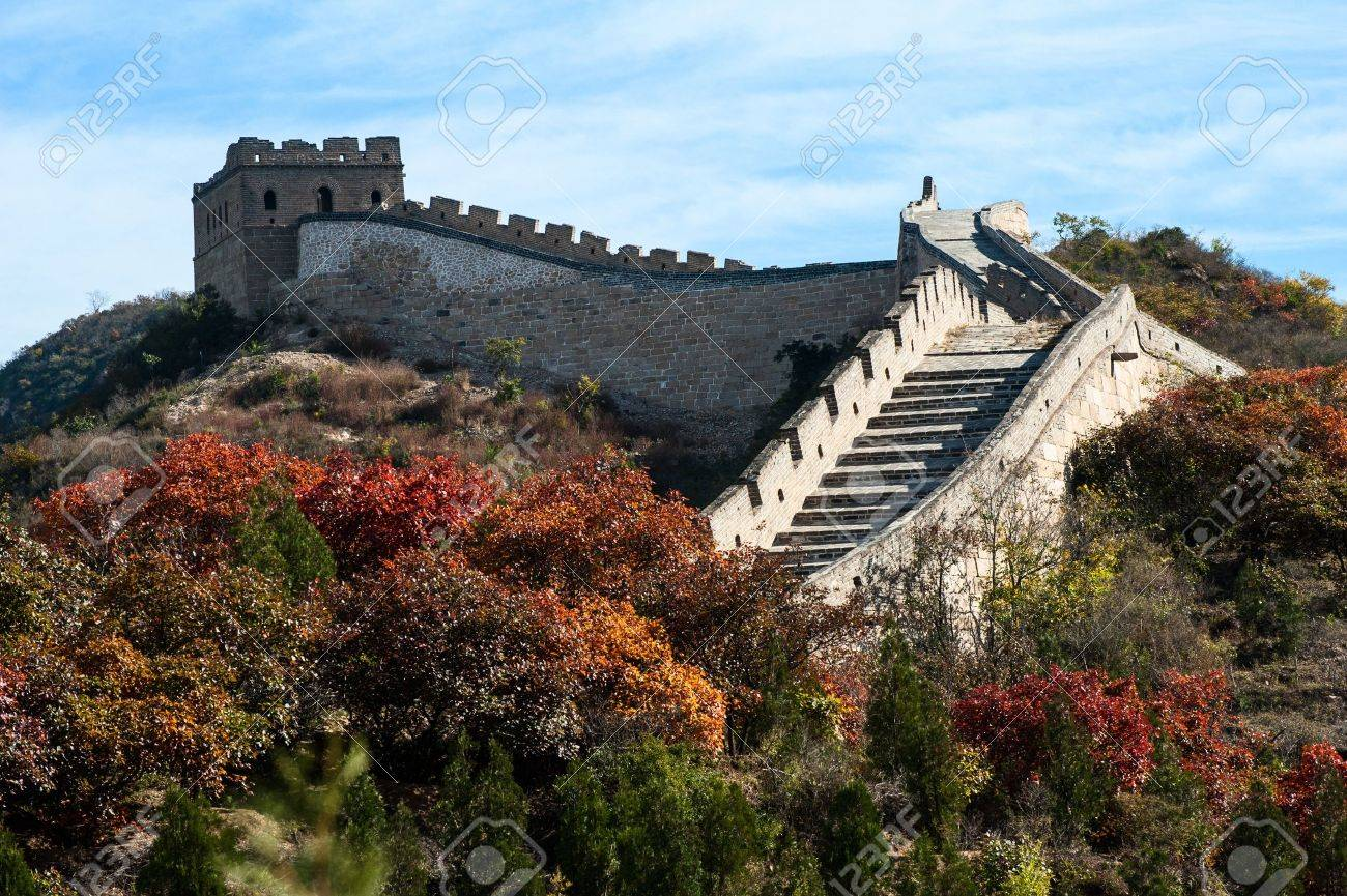 Great wall in the golden autumn Stock Photo - 14463141