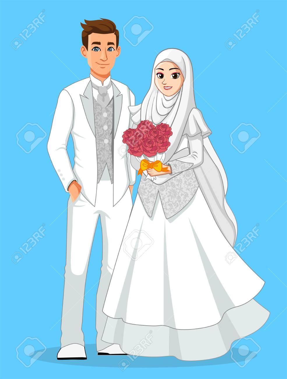 White muslim wedding dress stock photo picture and royalty free stock photo white muslim wedding dress junglespirit Gallery