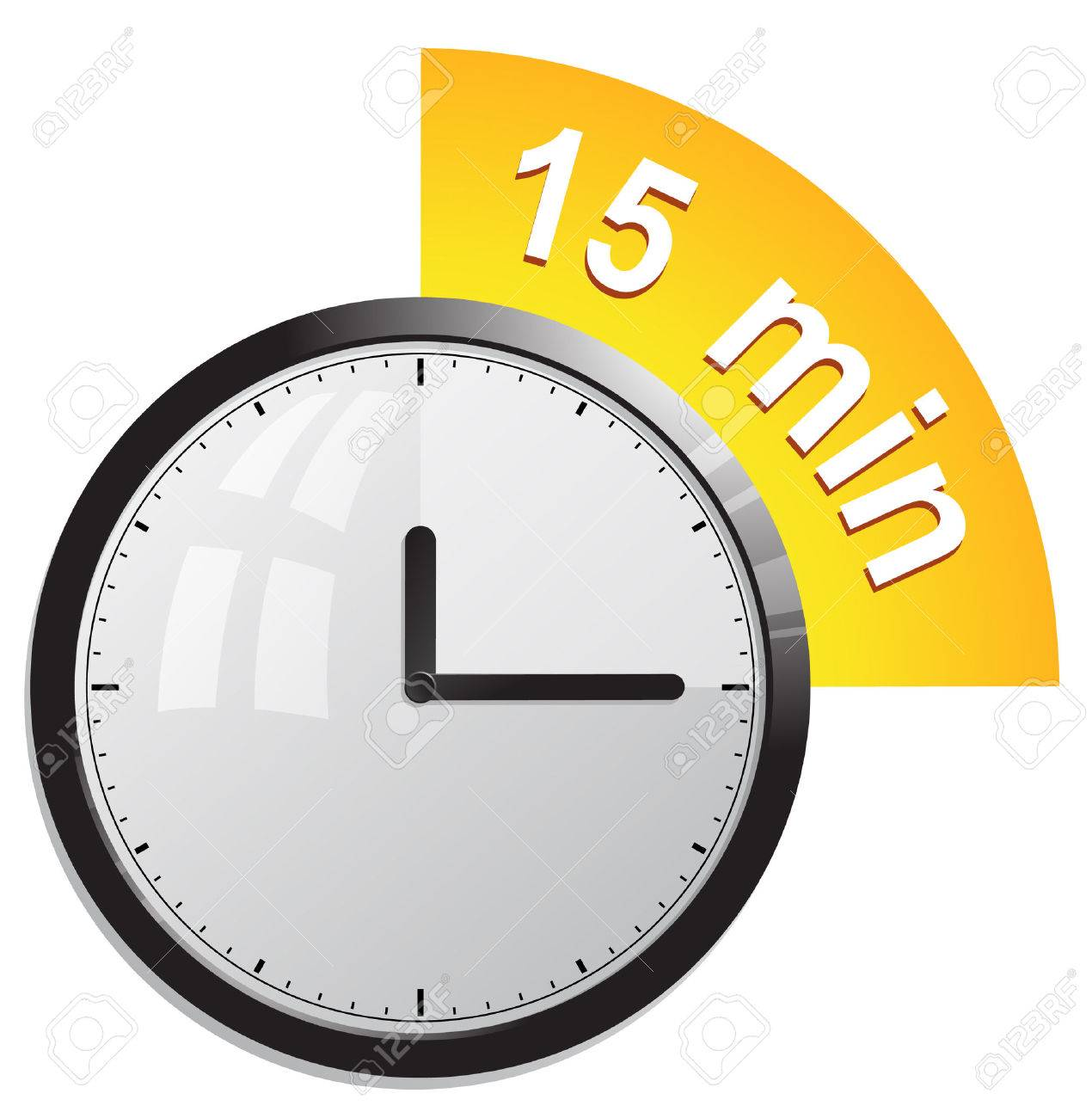 clock timer 15 minutes royalty free cliparts vectors and stock
