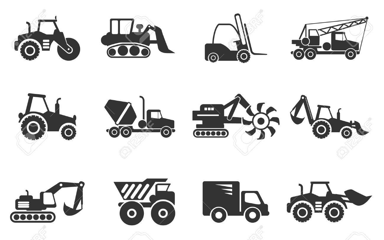 Symbols of construction machines royalty free cliparts vectors symbols of construction machines stock vector 28490227 buycottarizona Image collections