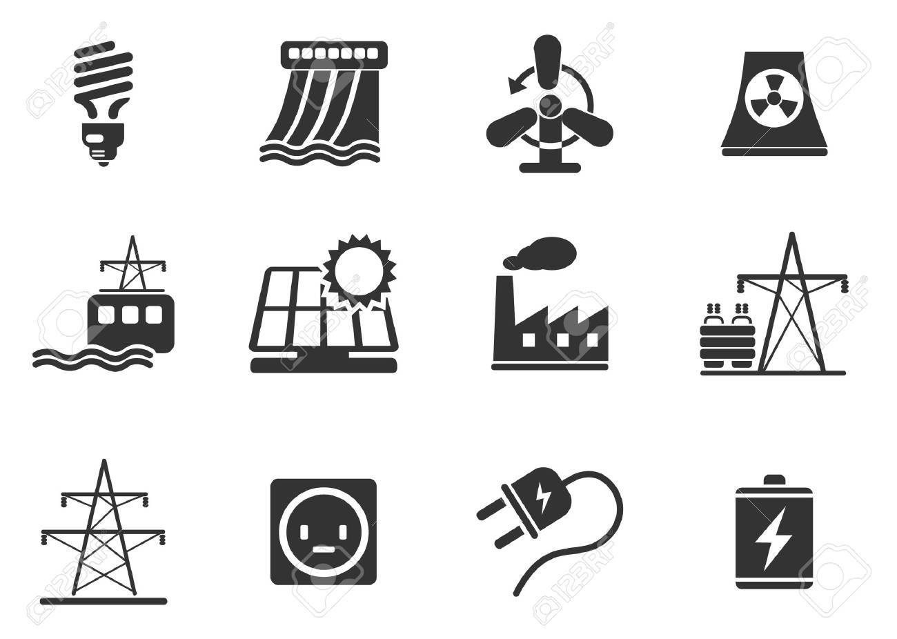 Icon Set, Energy and Industry Stock Vector - 28490289
