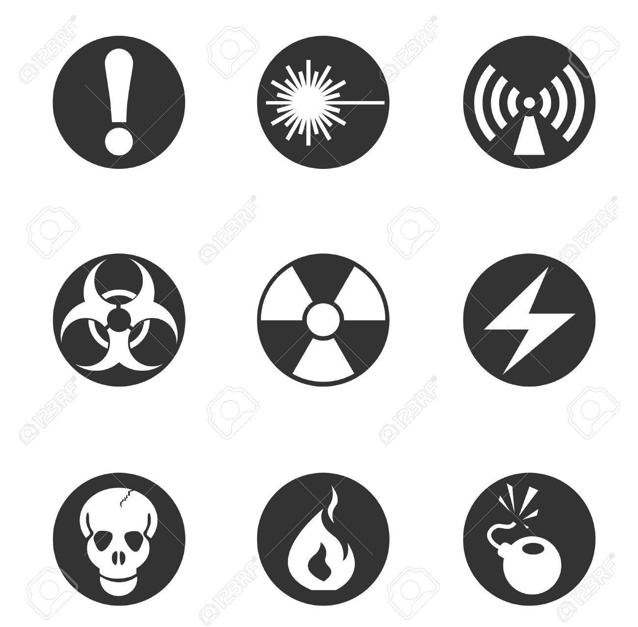 Hazard Sign Icons Stock Vector - 28491022
