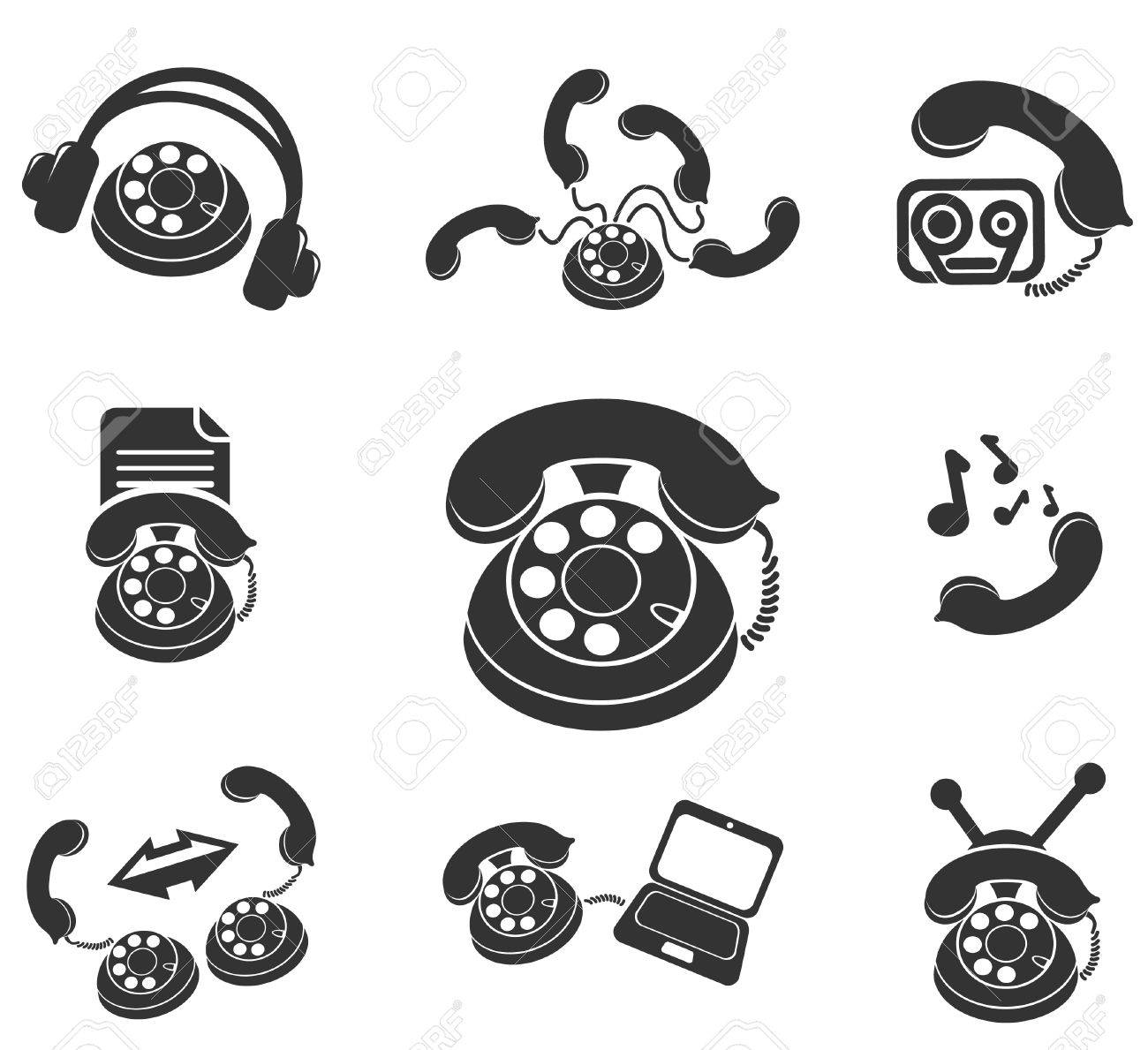 Symbols Of Phone Royalty Free Cliparts Vectors And Stock
