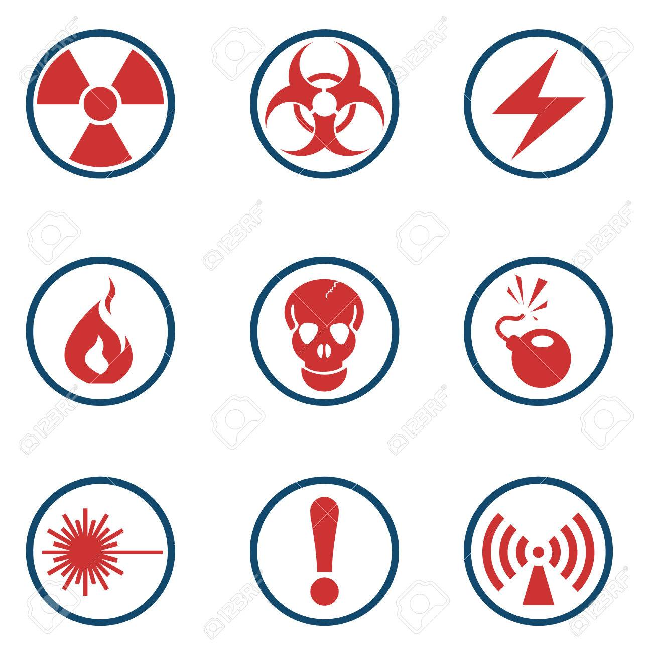 Hazard Sign Icons Stock Vector - 28602127
