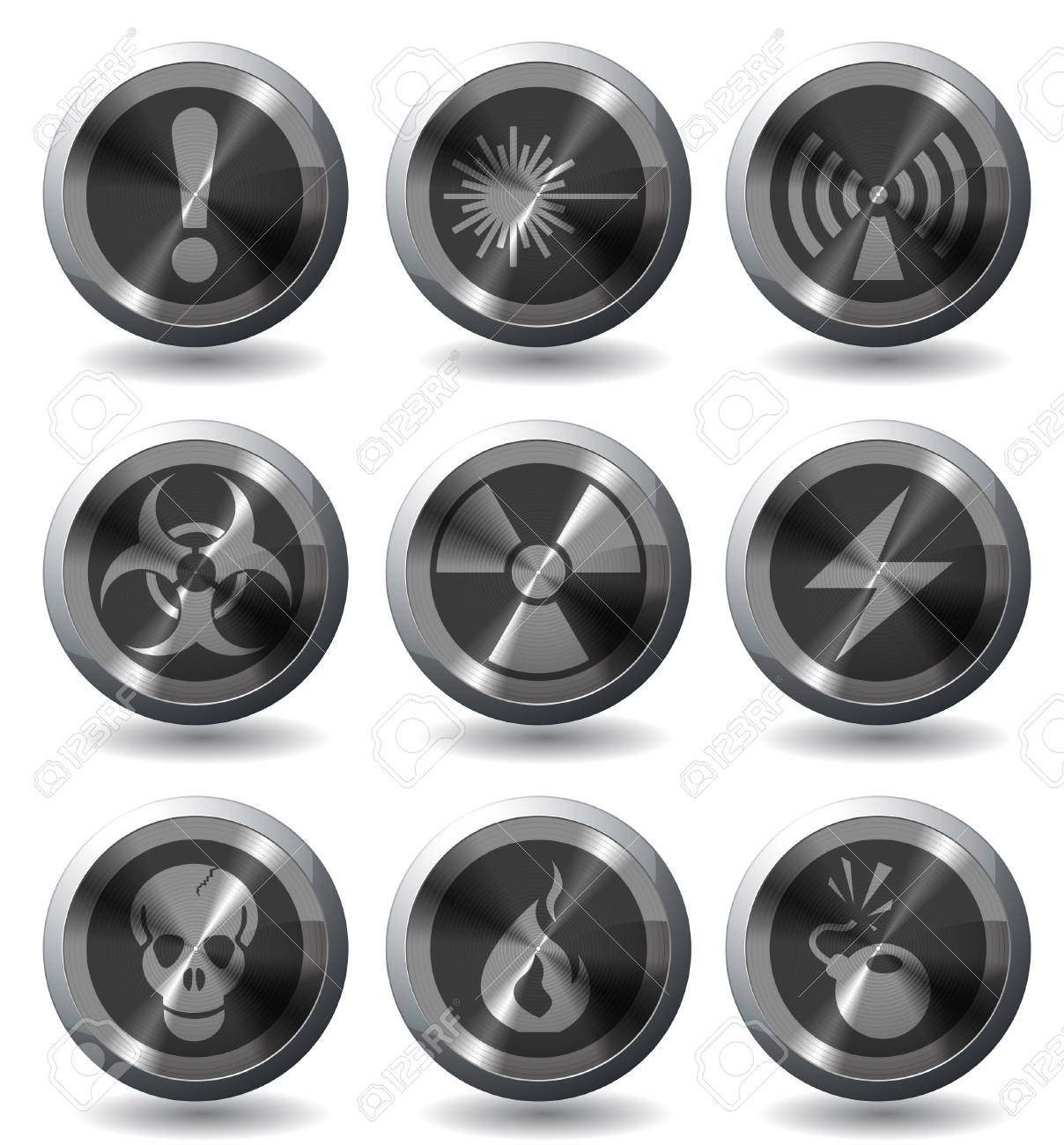 Hazard Sign Icons Stock Vector - 28642058