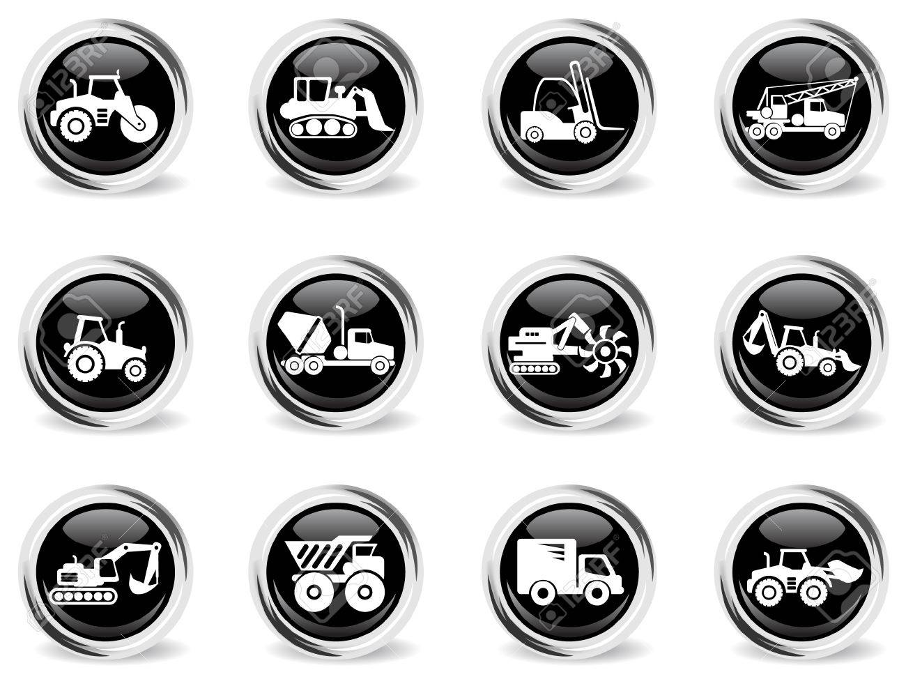 Symbols of construction machines royalty free cliparts vectors symbols of construction machines stock vector 28962553 buycottarizona Image collections