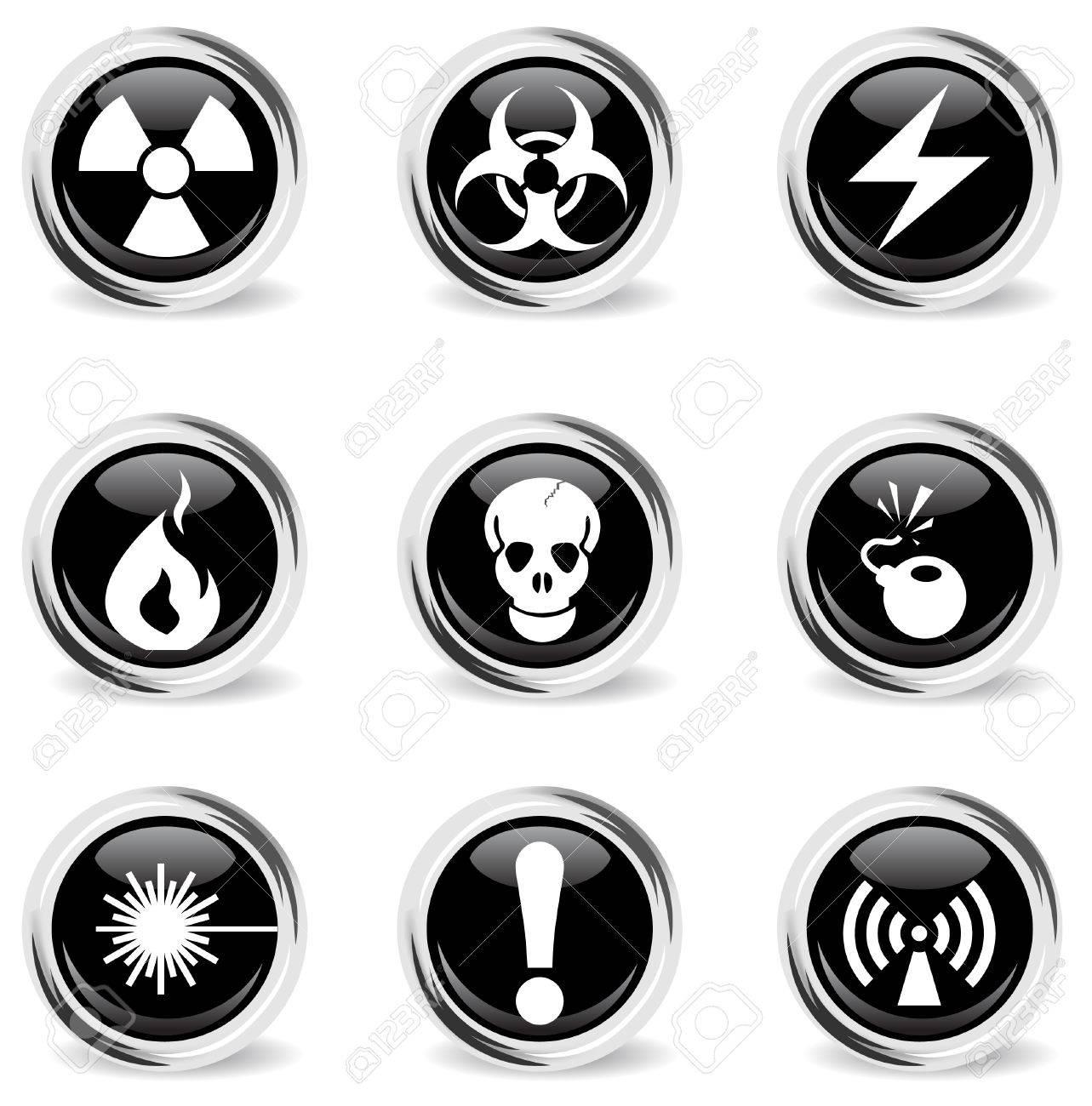 Hazard Sign Icons Stock Vector - 28962574