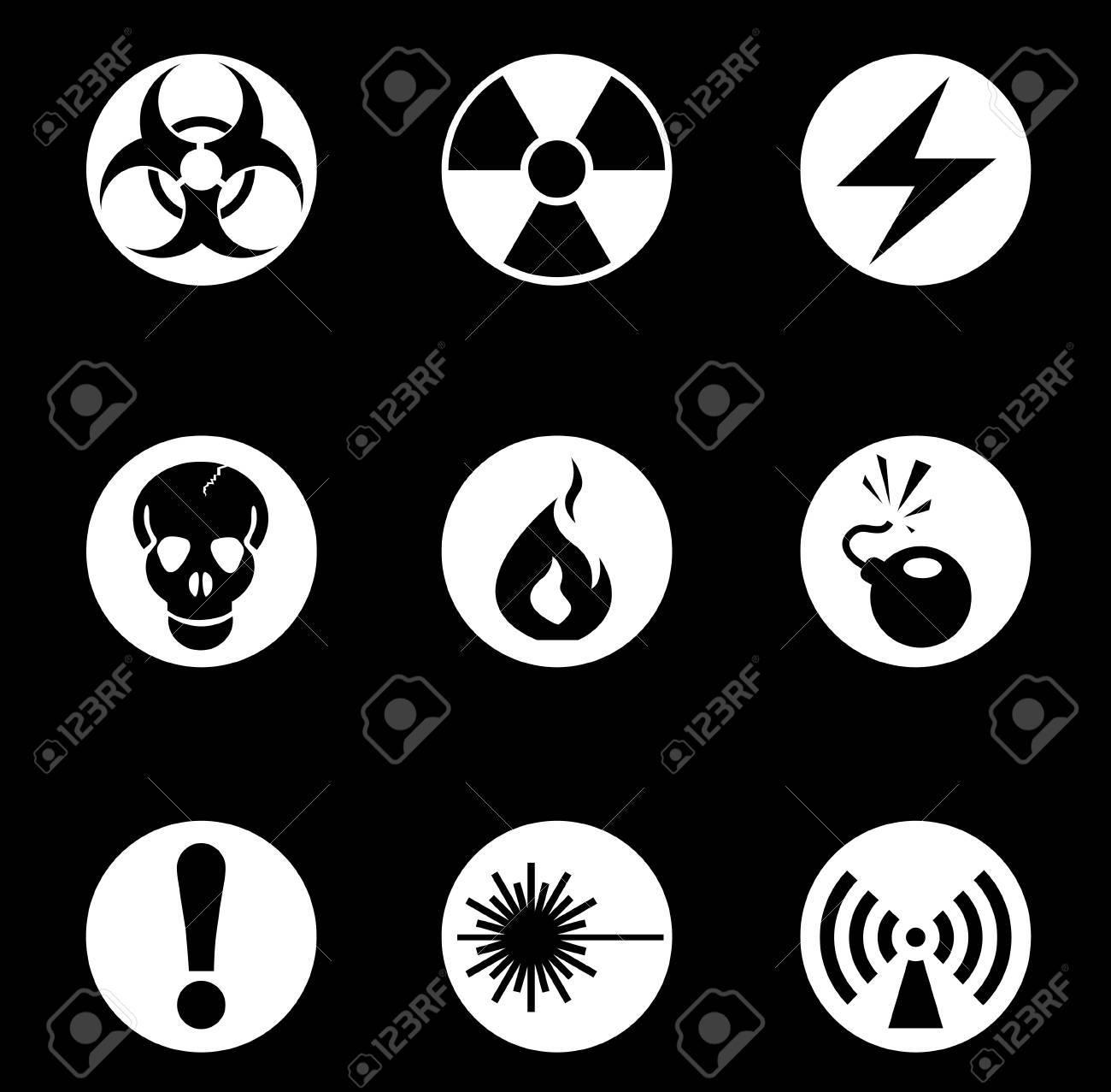 Hazard Sign Icons Stock Vector - 30135961