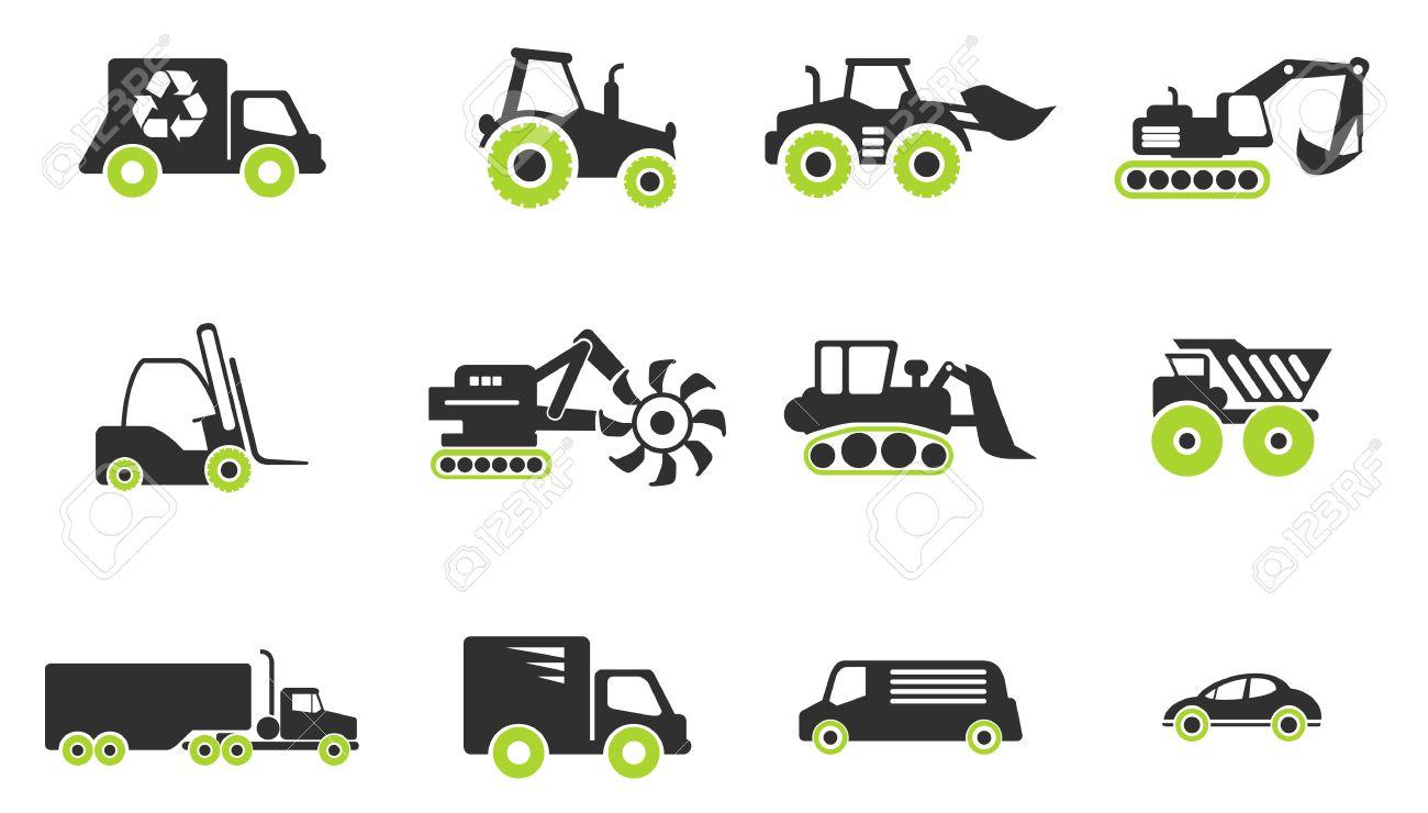 Symbols Of Transportation Loading Machines Royalty Free Cliparts