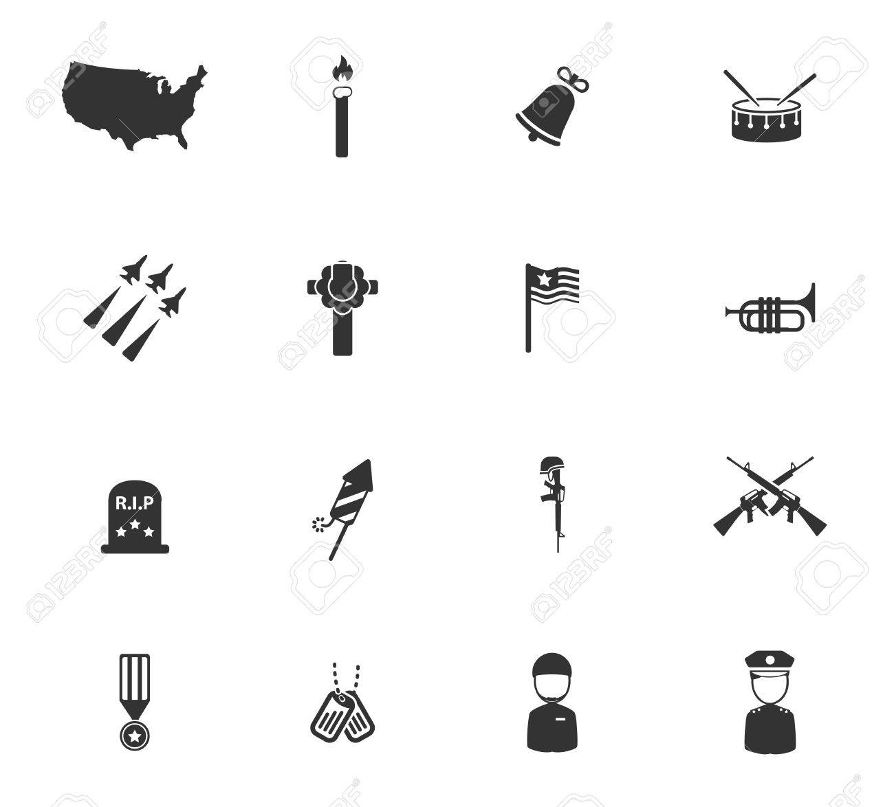 Memorial day simply symbols for web icons royalty free cliparts memorial day simply symbols for web icons stock vector 47308901 biocorpaavc