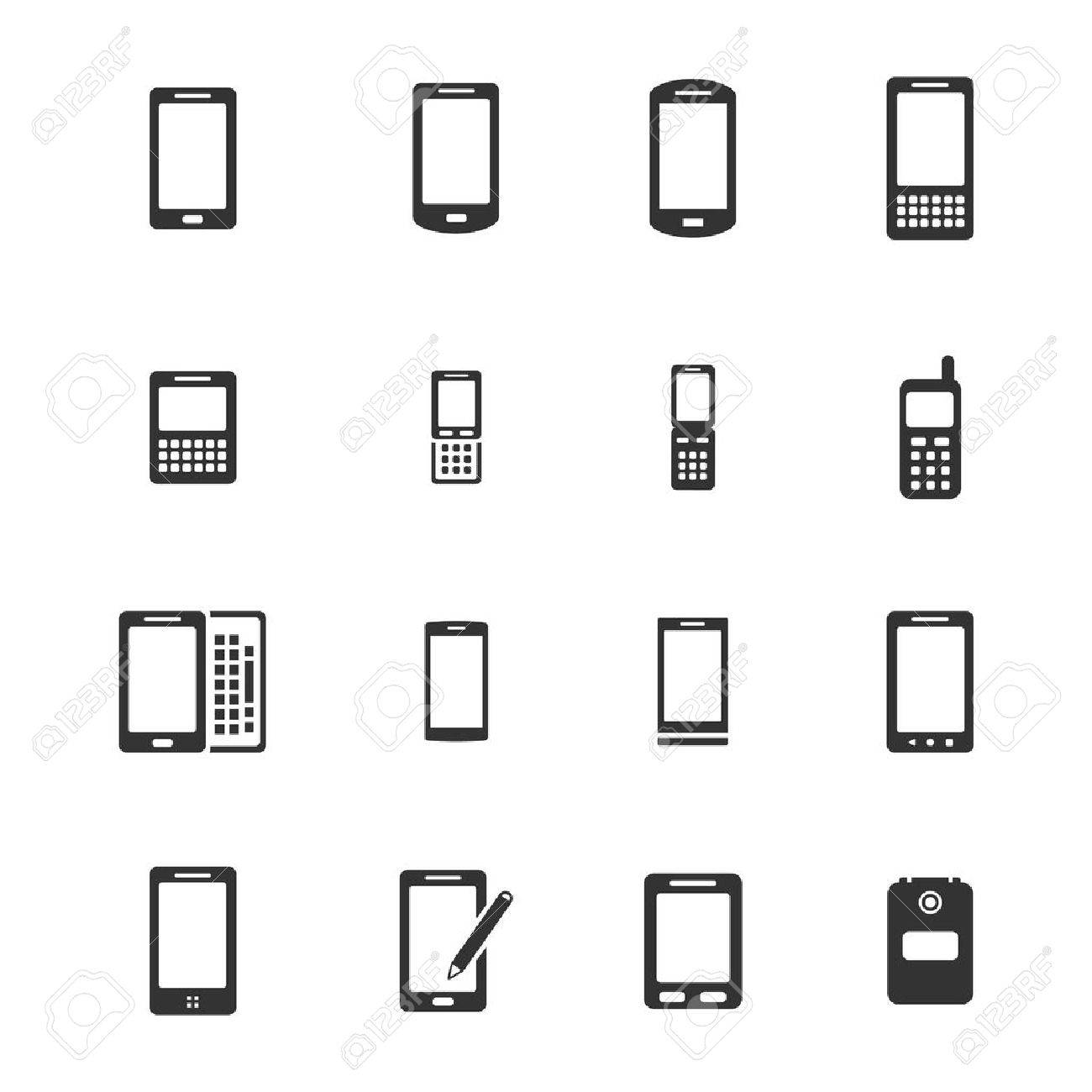 Handys Einfache Symbole Für Web Lizenzfrei Nutzbare Vektorgrafiken ...