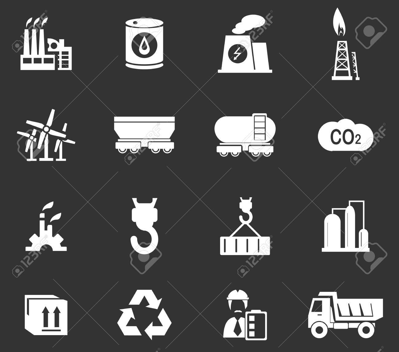 Industry simply icons for web and user interfaces - 51770918