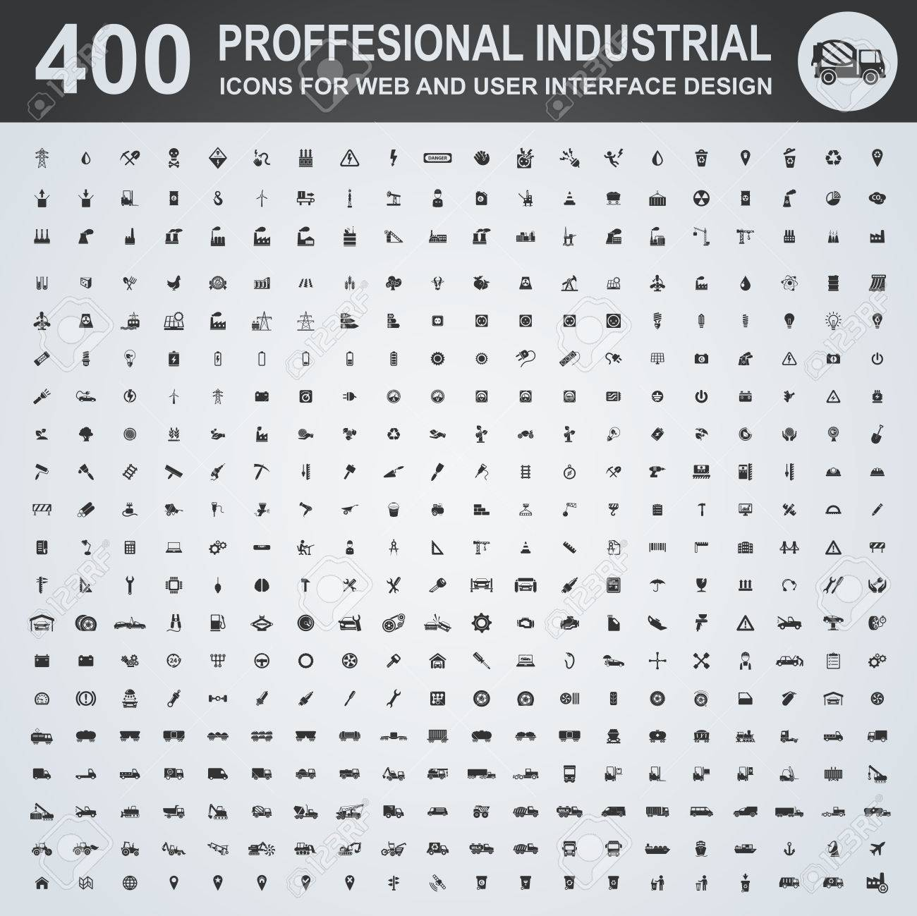 Professional industrial icons for web and user interface - 52833668