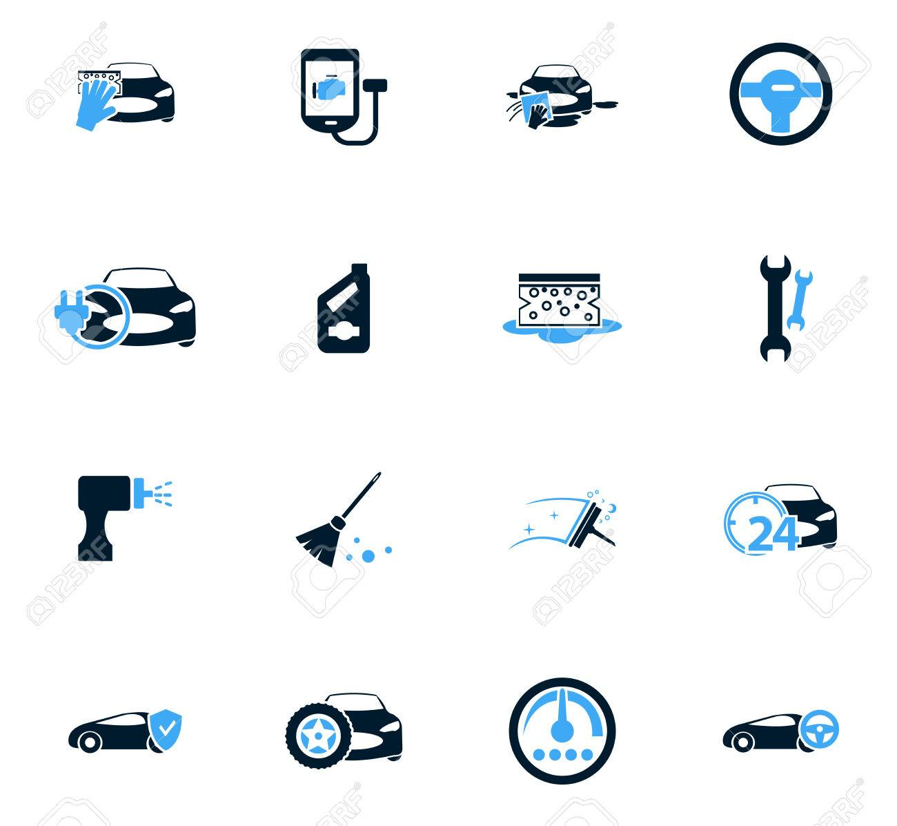 Car Shop Icon Set For Web Sites And User Interface Royalty Free