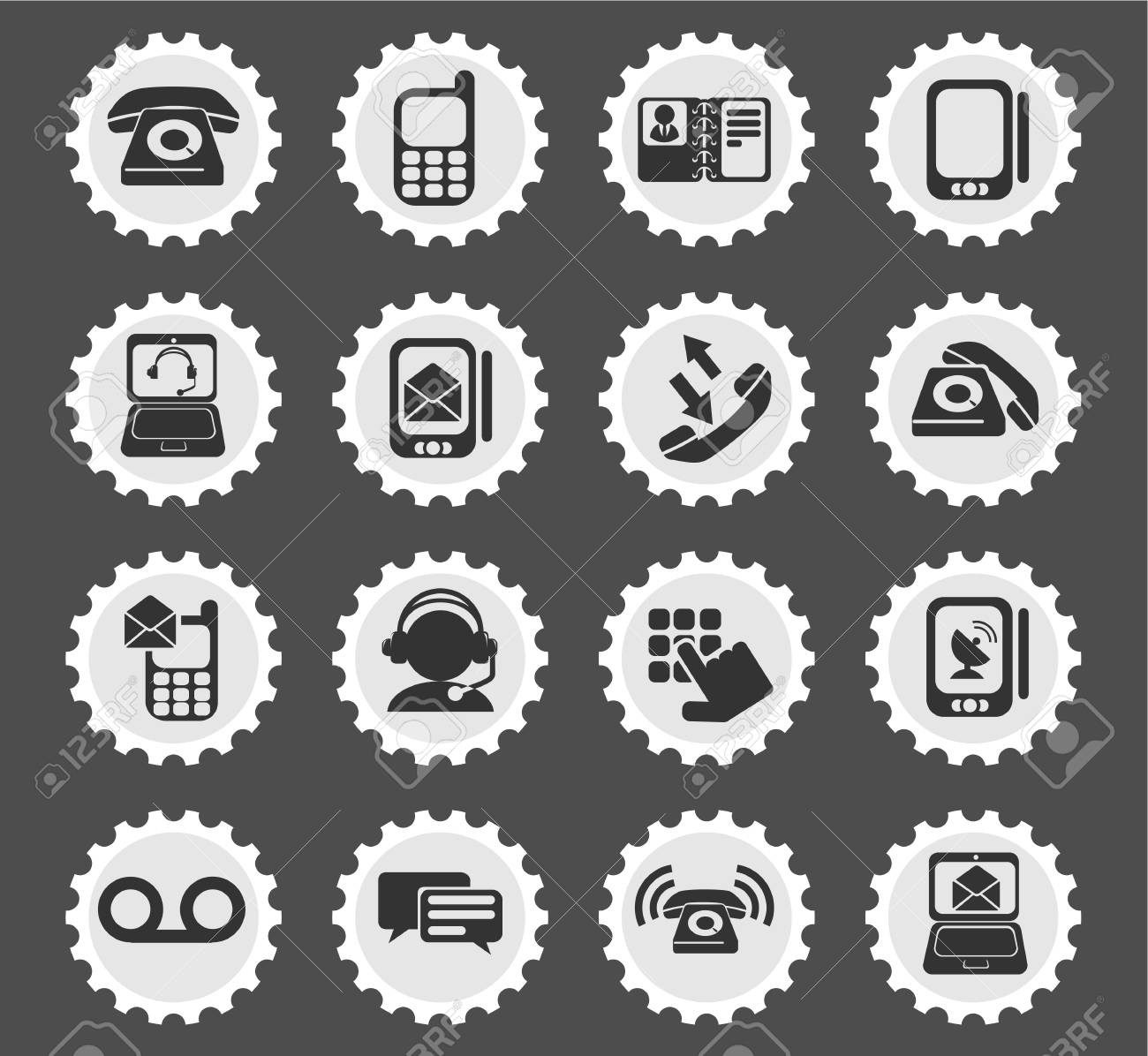 Telephone Simply Symbols For Web And User Interface Royalty Free