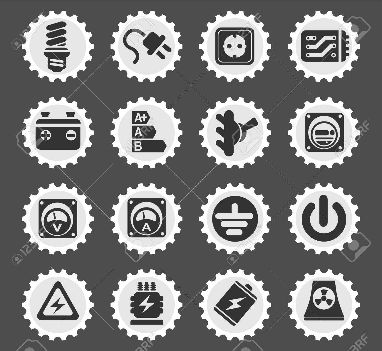 Ausgezeichnet Symbole Der Elektrizität Zeitgenössisch ...