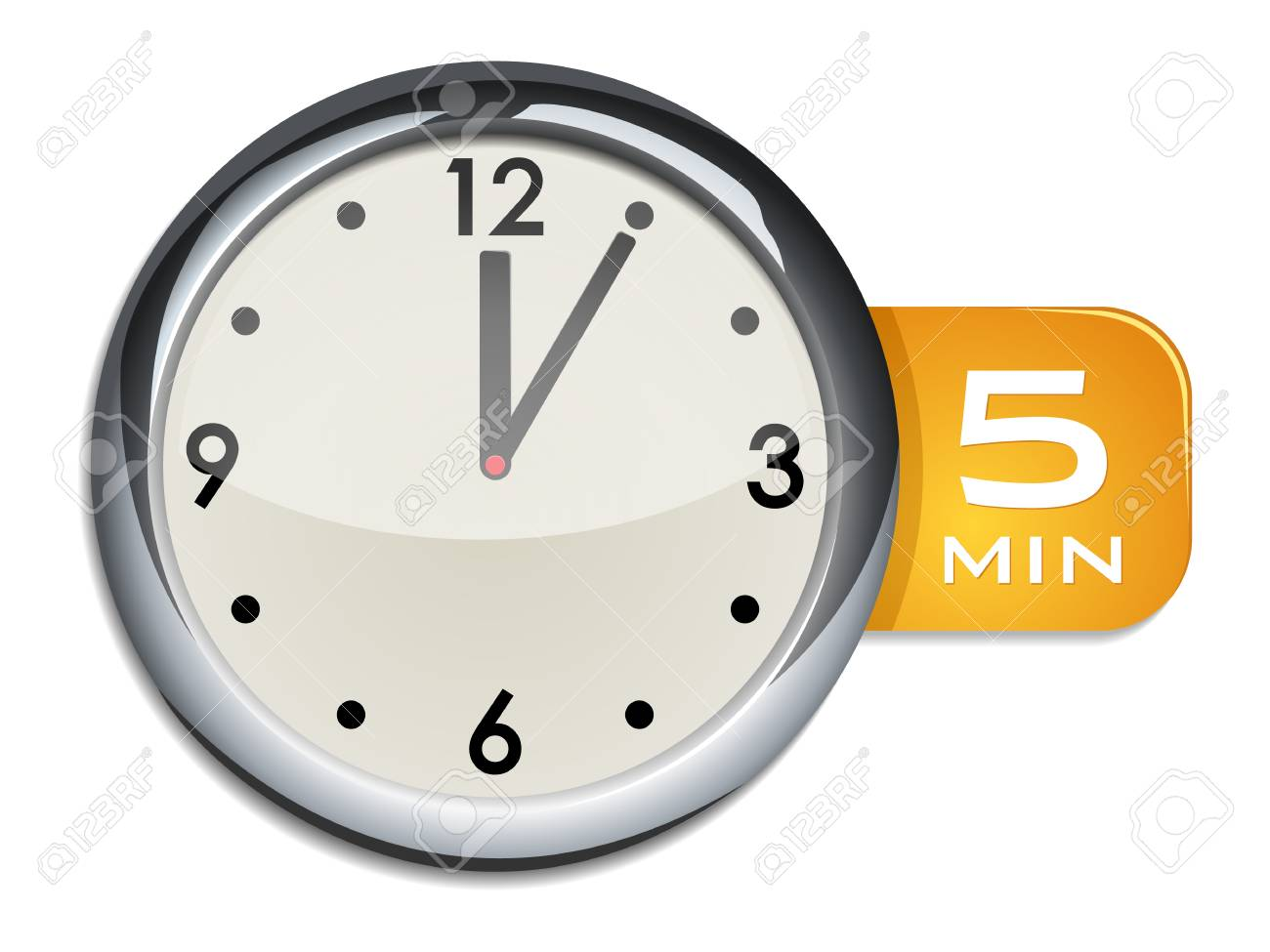 office wall clock timer 5 minutes royalty free cliparts vectors