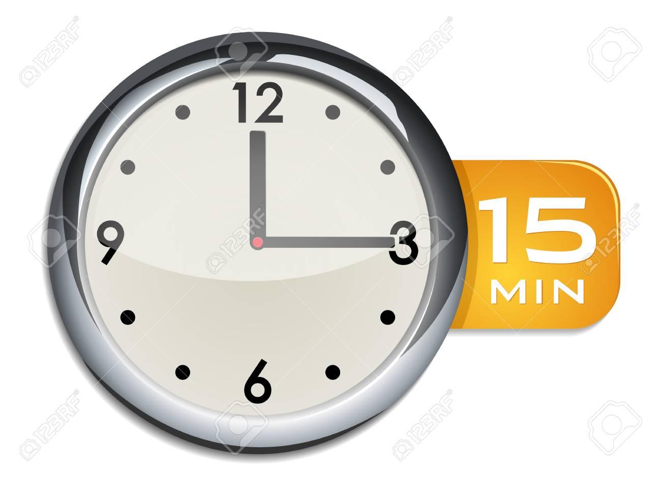 Buro Wanduhr Timer 15 Minuten Lizenzfrei Nutzbare Vektorgrafiken