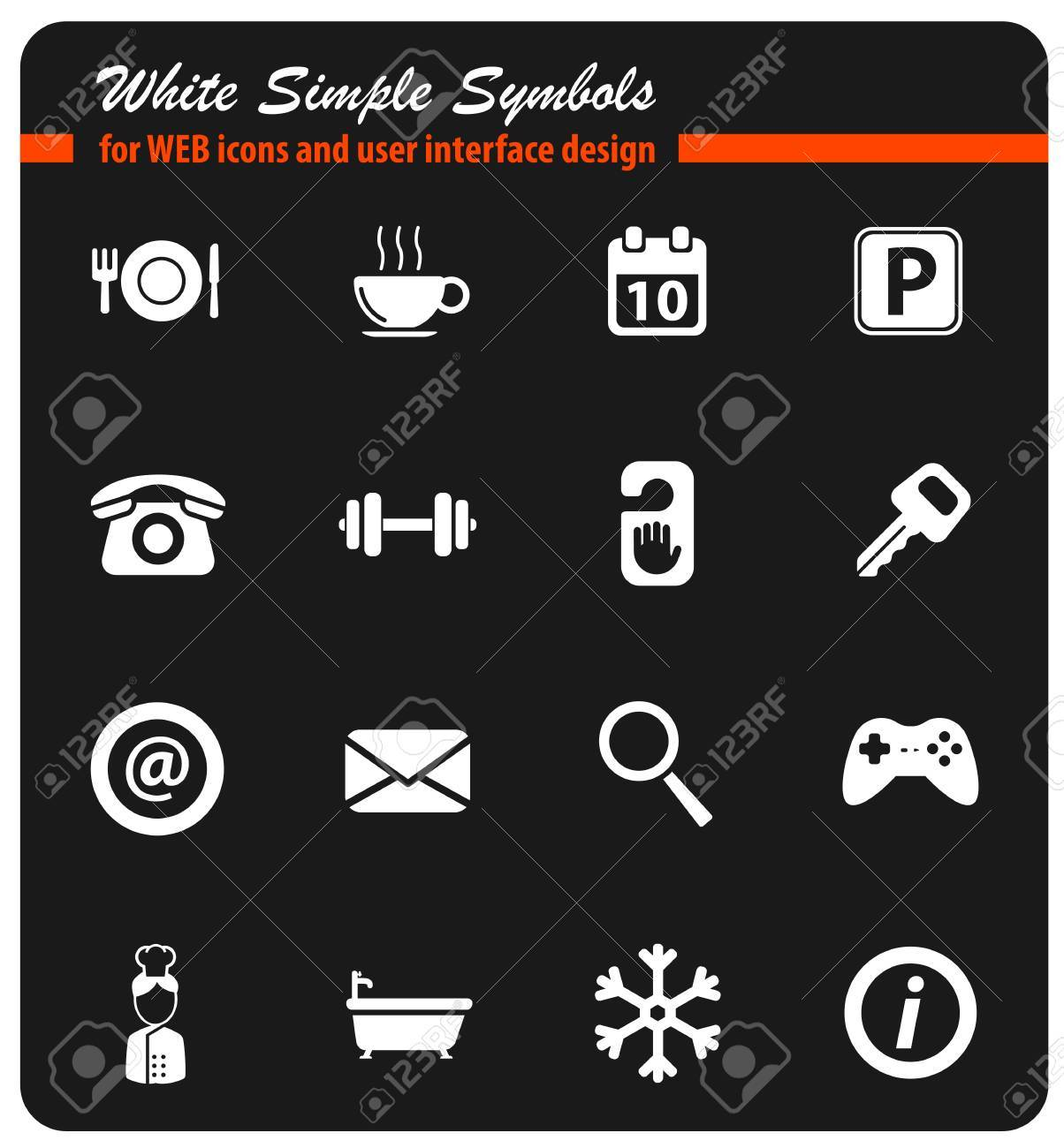 A Hotel Simply Hotel Simply Icons Royalty Free Cliparts Vectors And Stock