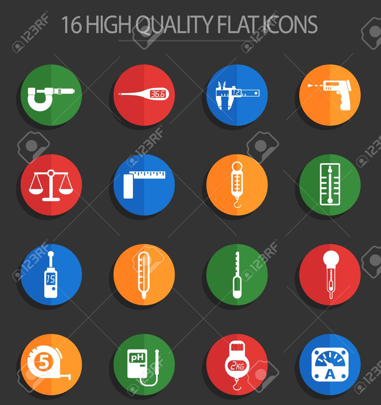 Measuring Tools Web Icons For User Interface Design Royalty Free Cliparts Vectors And Stock Illustration Image 112146342