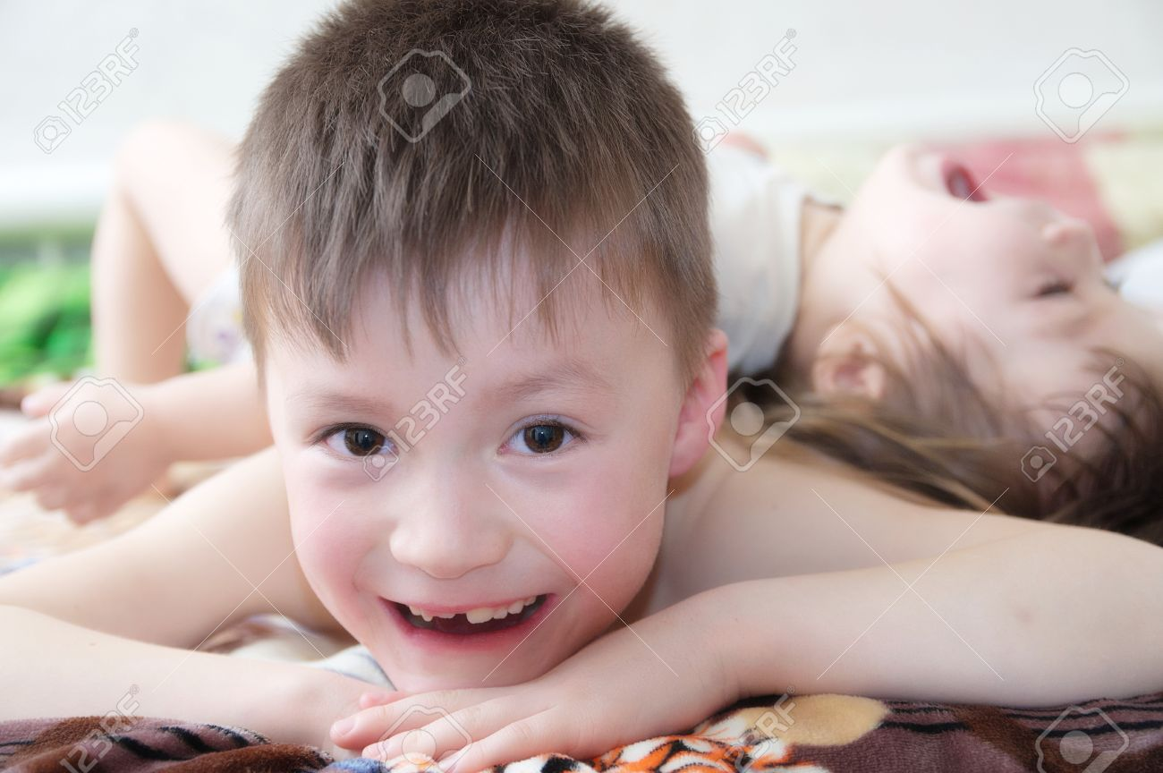 kids laughing, happy children smiling portrait, playing together
