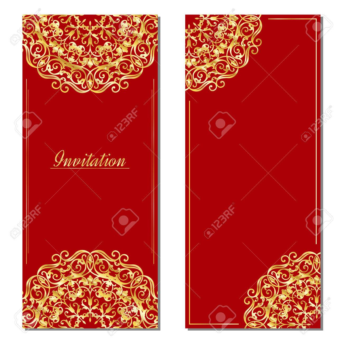 Vintage Greeting Cards In Eastern Style Royalty Free Cliparts