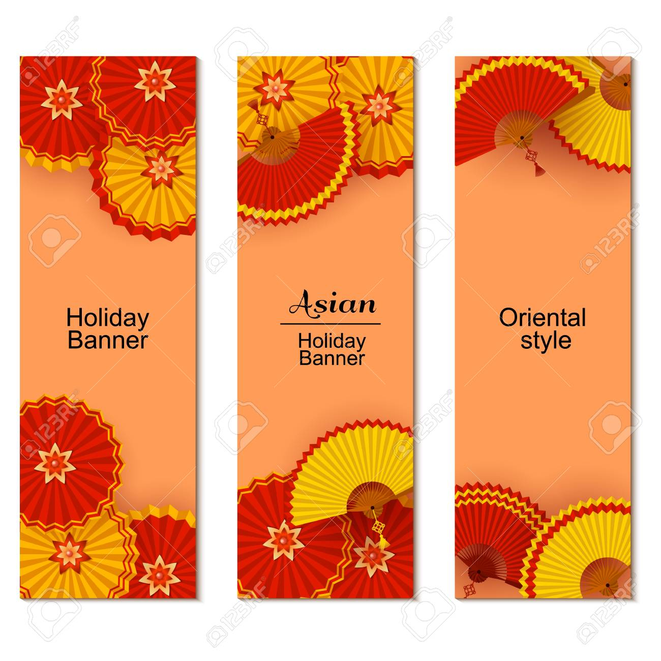 Invitation Greeting Card Template Origami Birds Stock Vector ... | 1300x1300