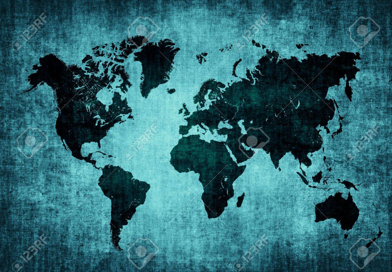 Old map of the world on dark blue grunge background stock photo old map of the world on dark blue grunge background stock photo 20233708 gumiabroncs Gallery