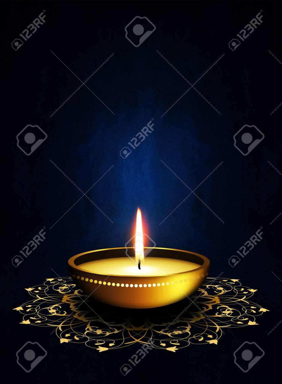 Oil lamp with place for diwali greetings over dark blue background oil lamp with place for diwali greetings over dark blue background stock photo 22973506 kristyandbryce Image collections