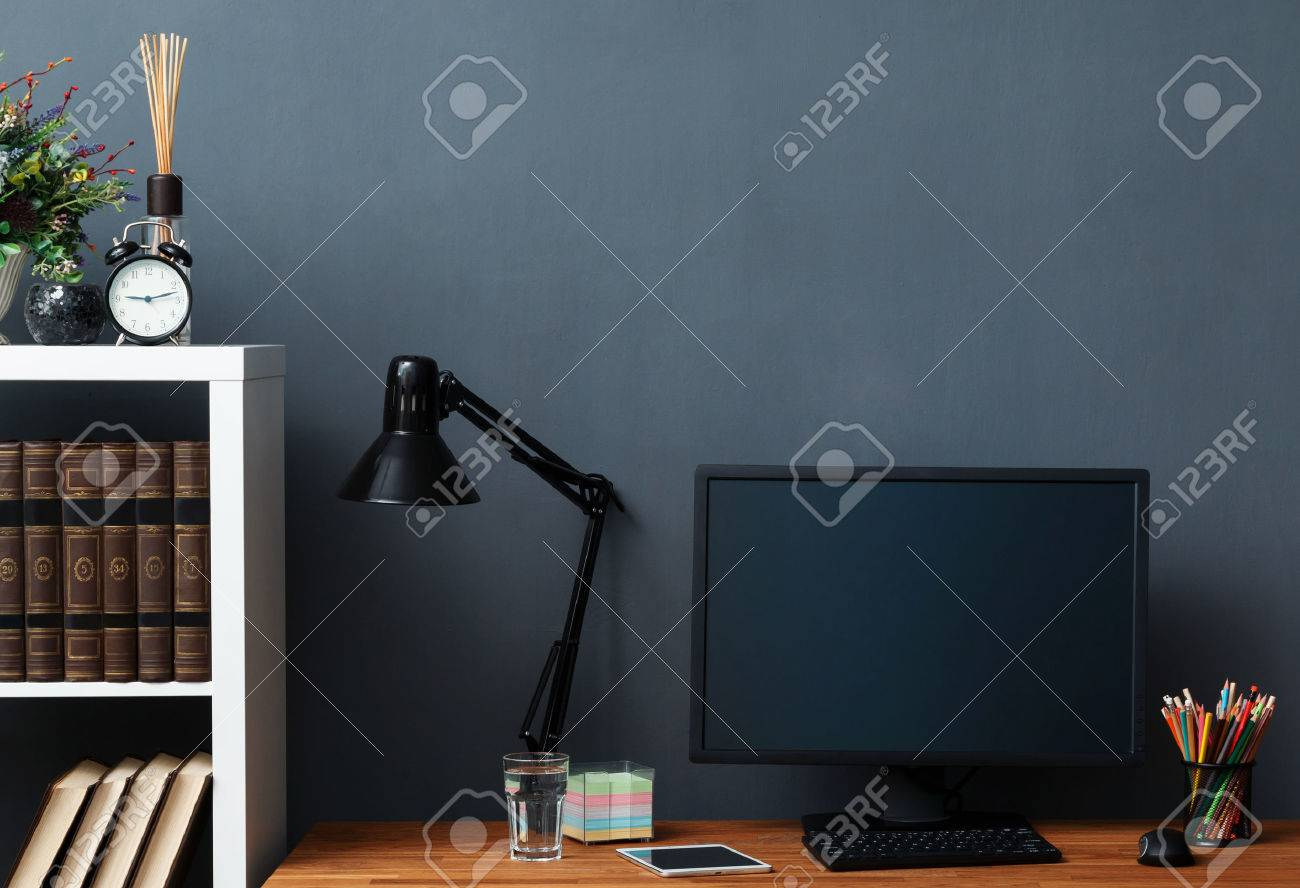 Modern workplace with computer - 44234934