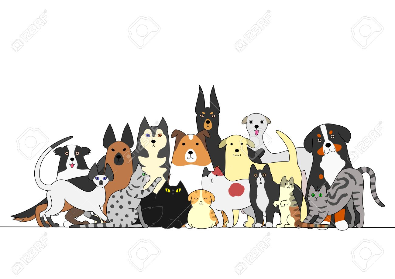Group Of Dogs And Cats Royalty Free Cliparts Vectors And Stock