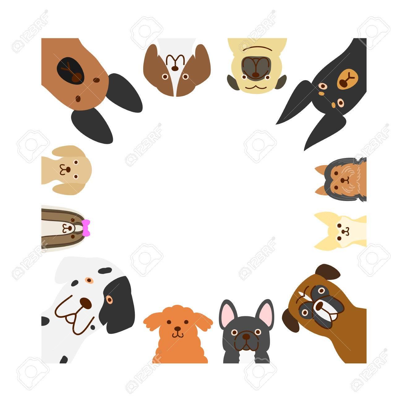 Große Und Kleine Hunde Quadratischen Rahmen Lizenzfrei Nutzbare ...