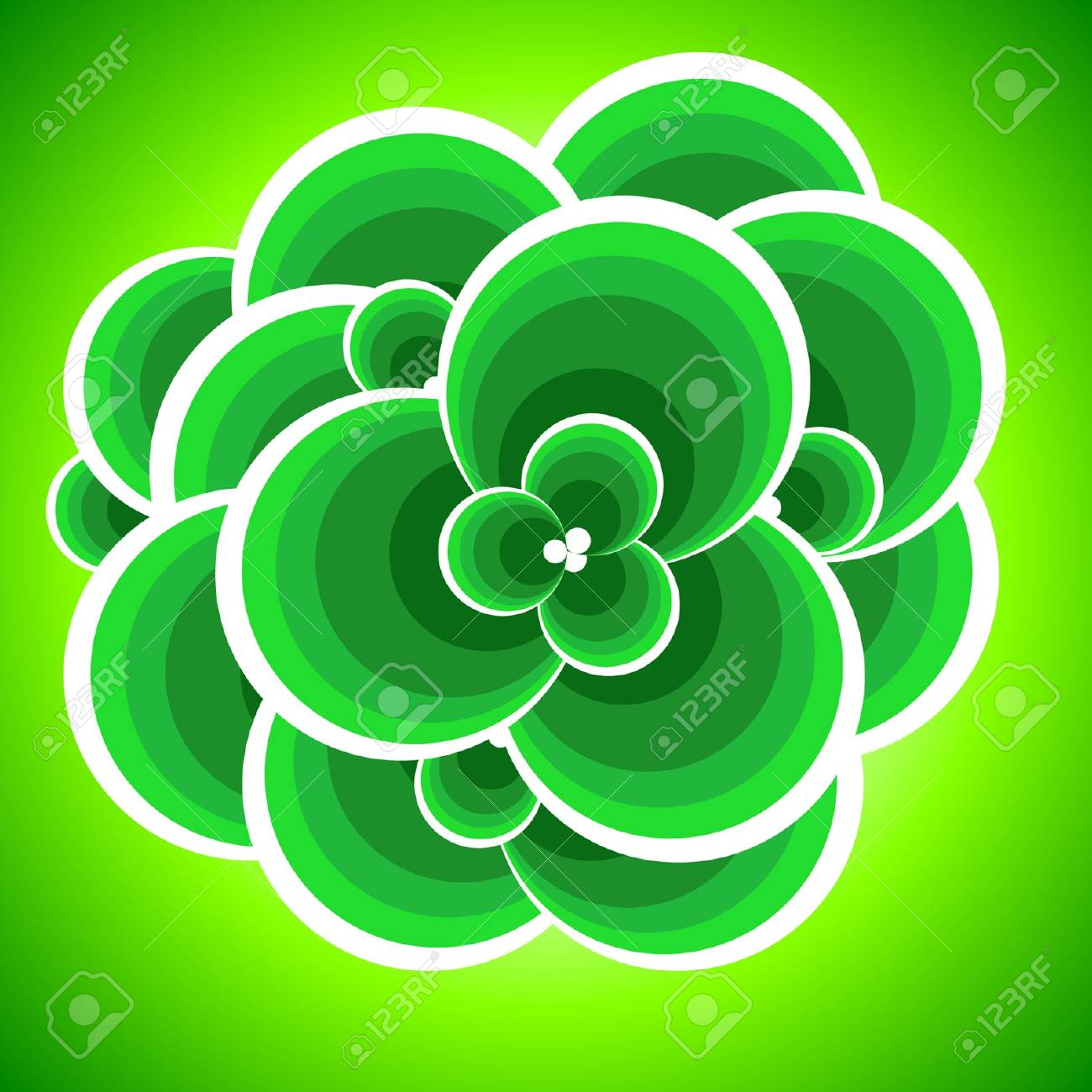 Abstract green foliage. Vector illustration. Stock Vector - 5372188