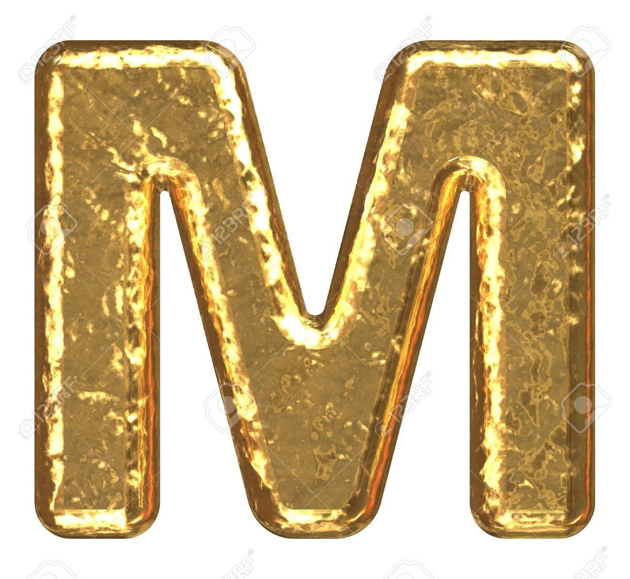M Letter In Gold Letter M   letter  gold