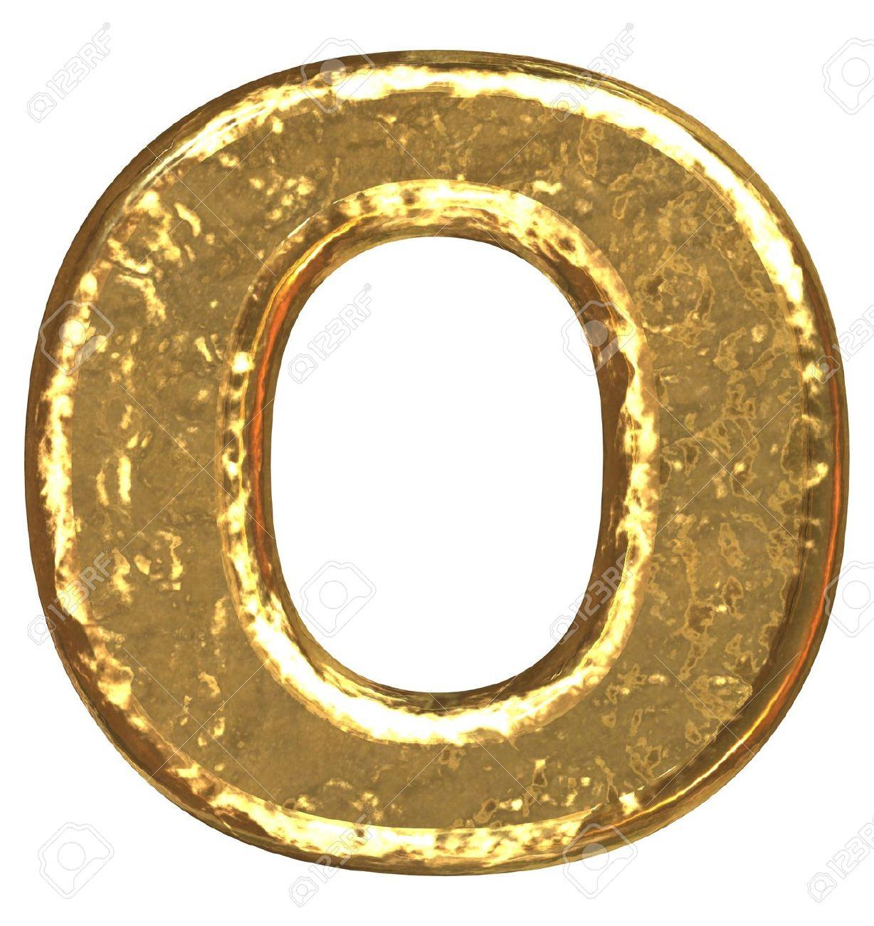 Golden font. Letter O. Stock Photo - 5648678