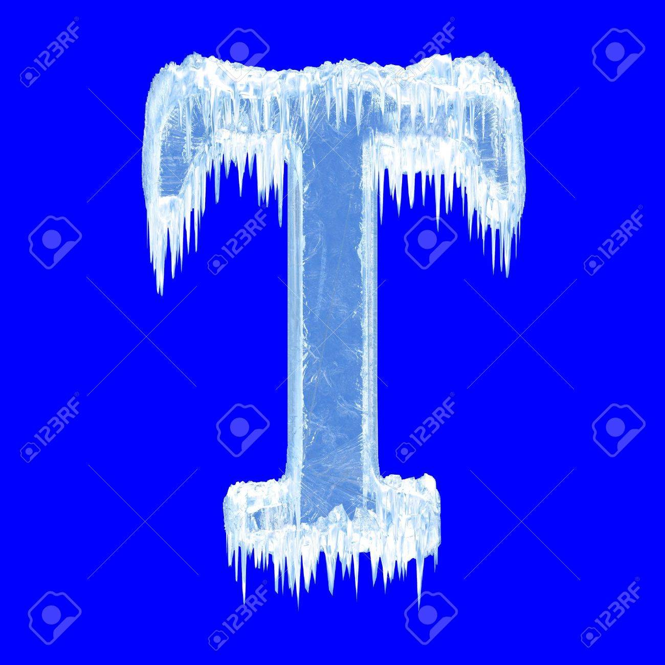 Icing alphabet. Letter T. Upper case Stock Photo - 7617205