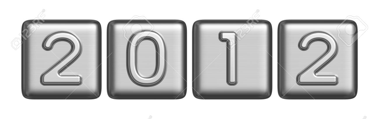 New Year 2012 metal sign Stock Photo - 11111469
