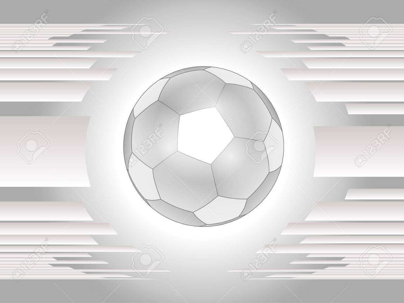 Abstract gray soccer ball background Stock Vector - 14166992