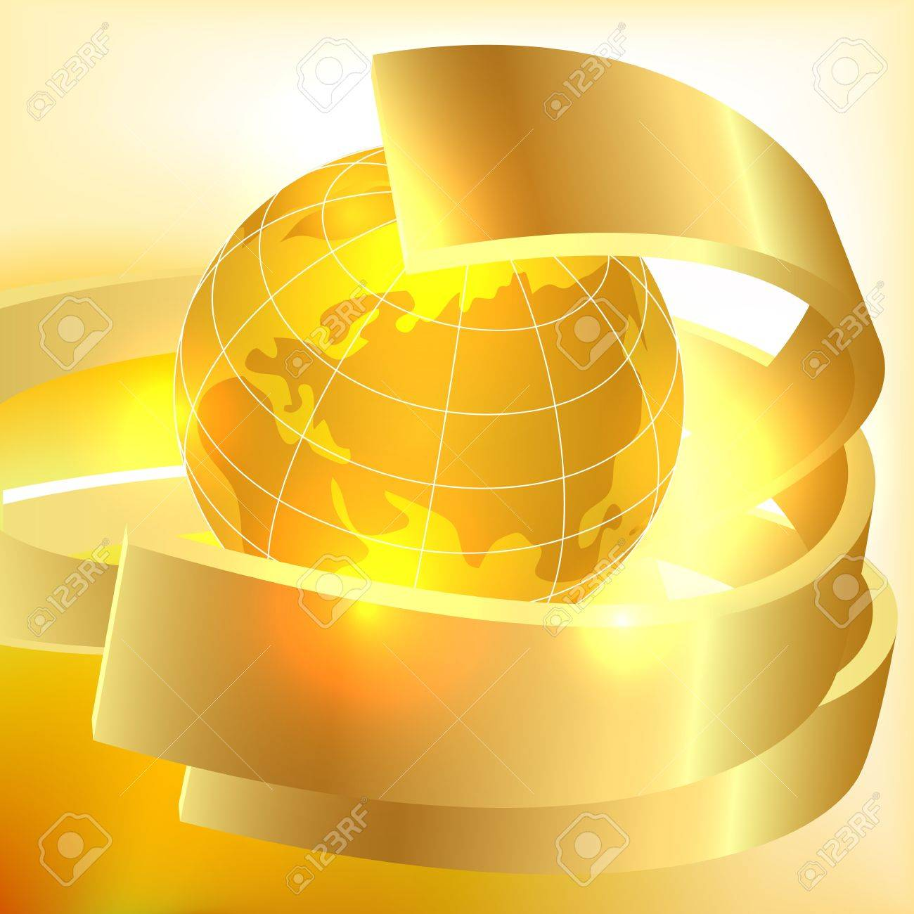Golden Earth background Stock Vector - 14325373