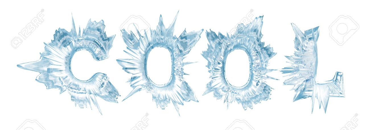 ice crystal letters the word cool stock photo picture and royalty
