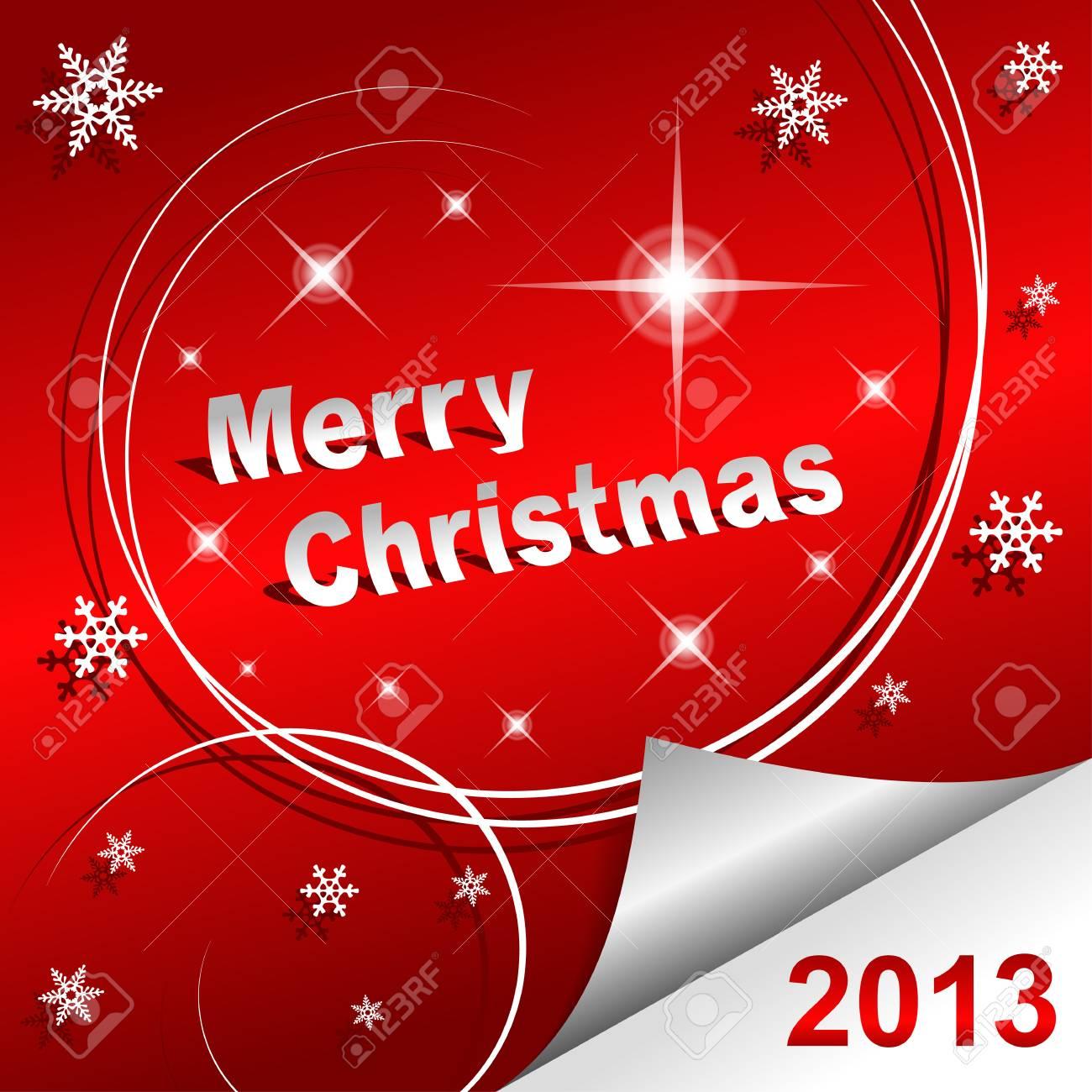 Buon Natale 2013 sfondo rosso Archivio Fotografico - 15122577