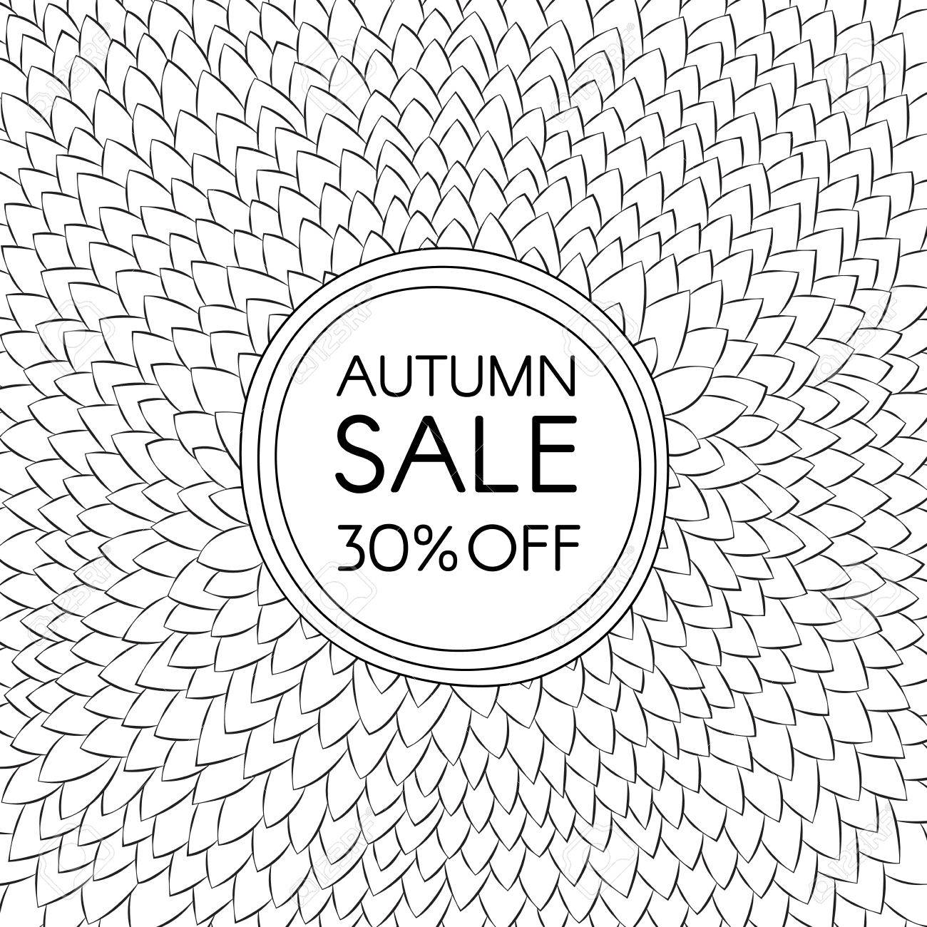 Autumn Sale Background Of A Pile Of Leaves Arranged In Circles Royalty Free Cliparts Vectors And Stock Illustration Image 68886382