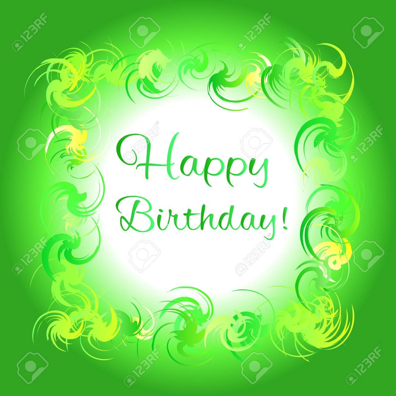 happy birthday in green - Isken kaptanband co