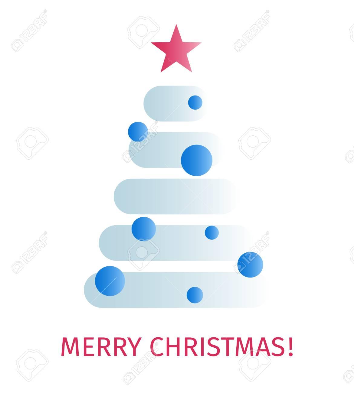Congratulations On Christmas Stylized Christmas Tree Merry