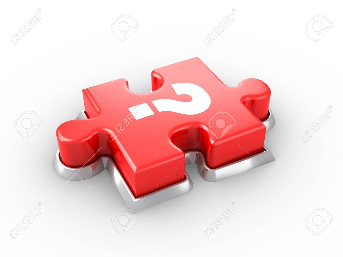 Puzzle Button. Stock Photo - 9596719