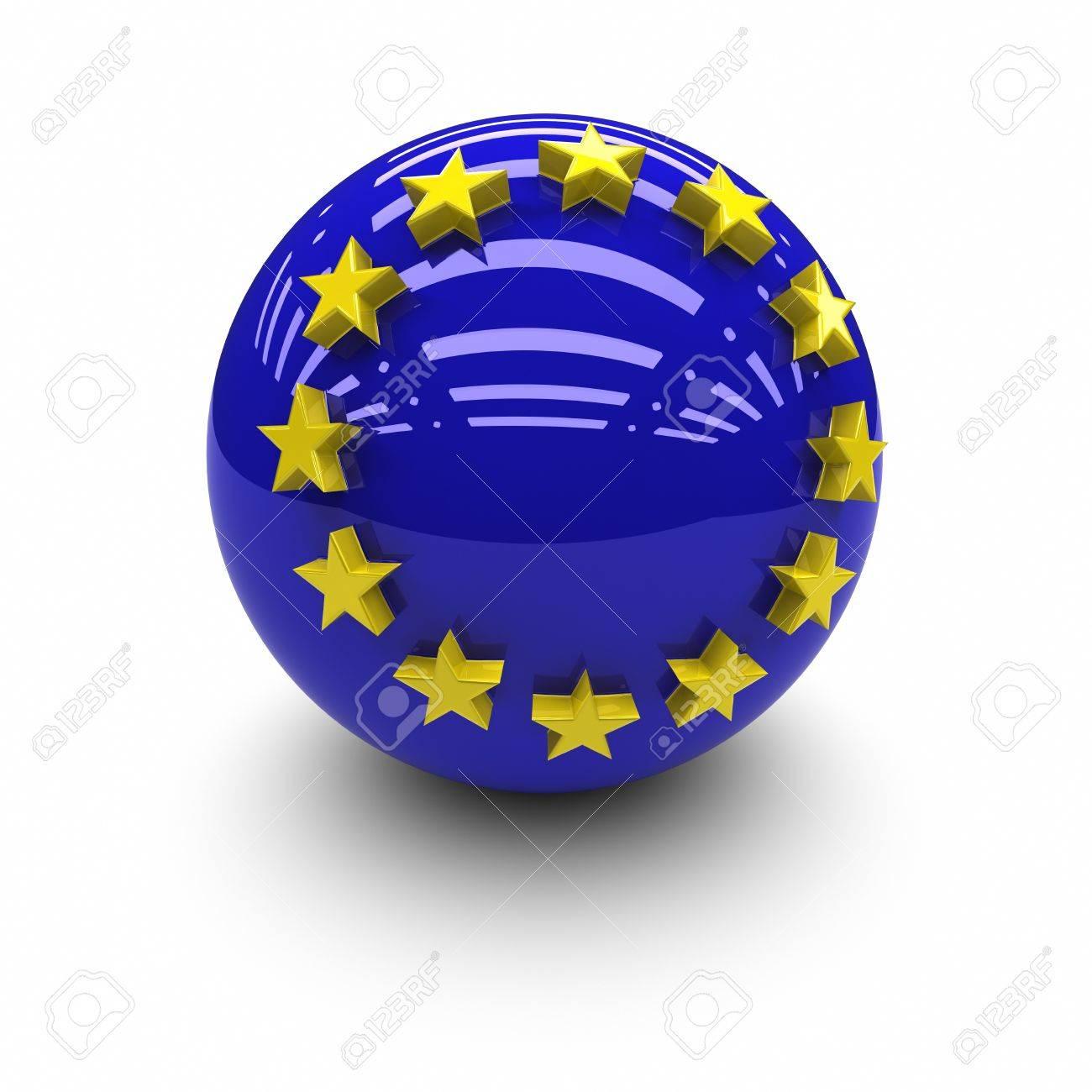 3D  -European Union Flag. Stock Photo - 9646622