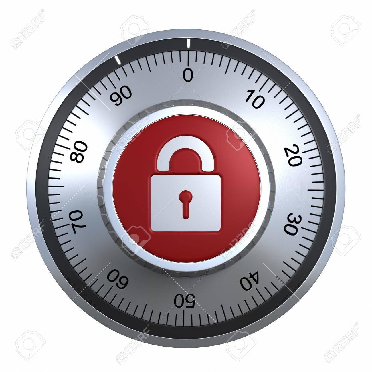 Combination Lock with padlock Stock Photo - 9646667