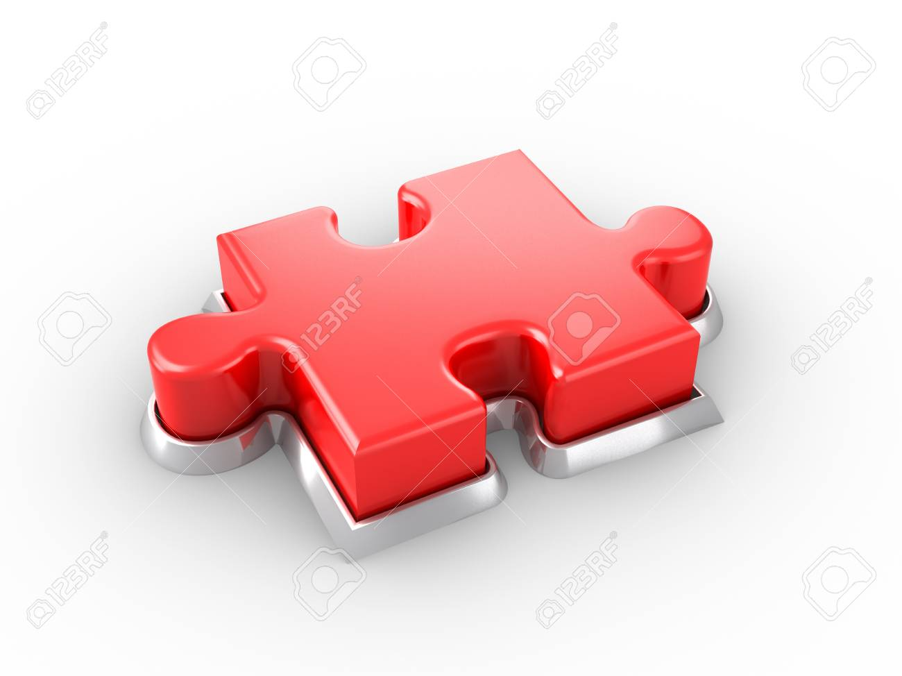 Puzzle Button Stock Photo - 9710486