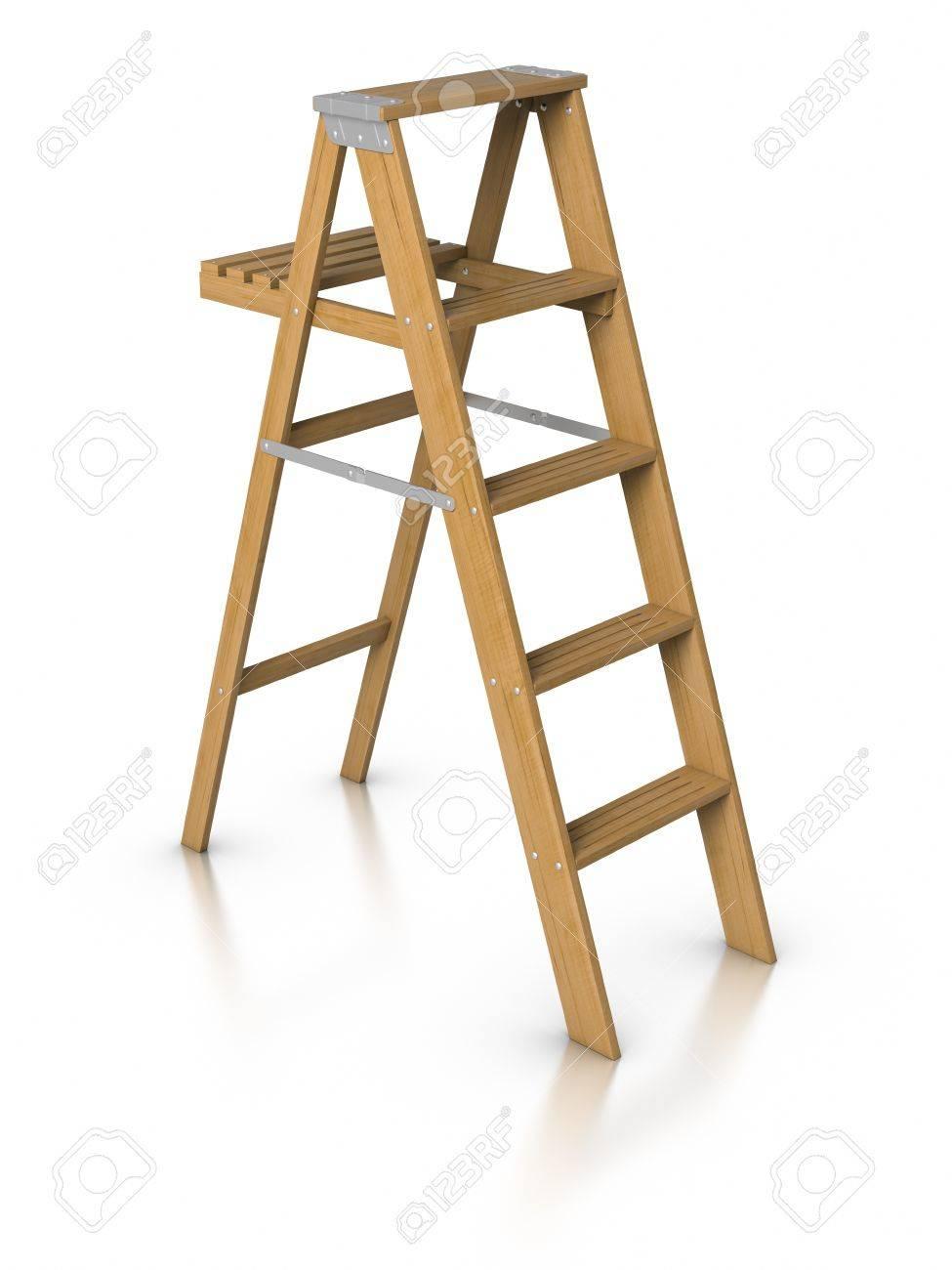 3D Step ladder. Stock Photo - 9943052