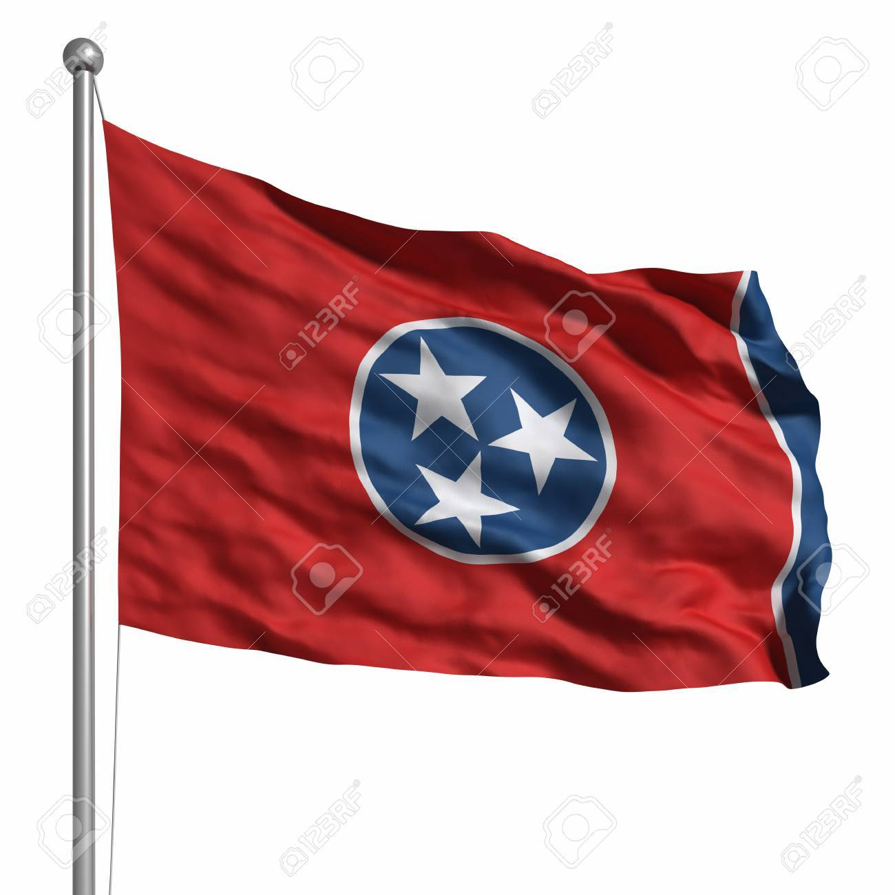 e59e313e634 Flag of Tennessee. Rendered with fabric texture (visible at 100%). Clipping
